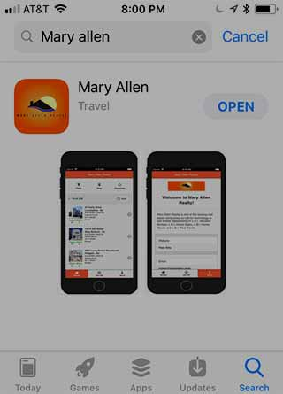 New IPhone Vacation Rental Search App
